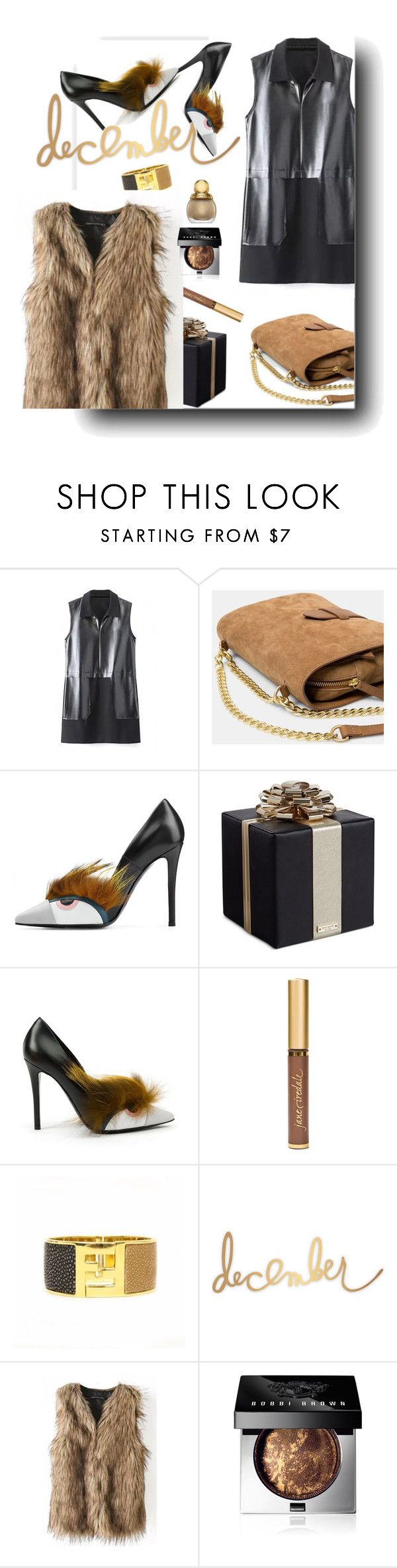 """Bhalo"" by iraavalon ❤ liked on Polyvore featuring MANGO, Fendi, Kate Spade, Jane Iredale, Bobbi Brown Cosmetics, women's clothing, women's fashion, women, female and woman"