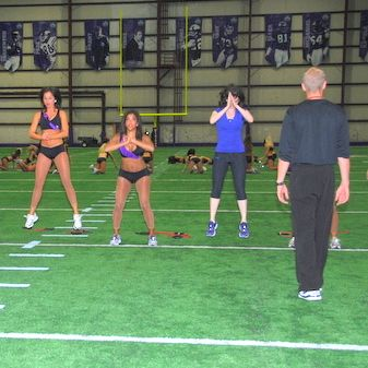 The Minnesota Vikings Cheerleaders share their intense workout routine. From a heart-pumping warm up to spiderman planks and squat routines, these NFL cheerleaders know how to break a sweat. We dare you to try it.
