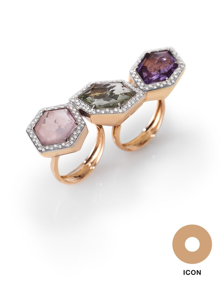 Two-finger #ring by #Falcinelli Italy