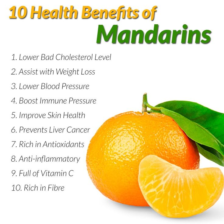 Mandarins assist with weight loss