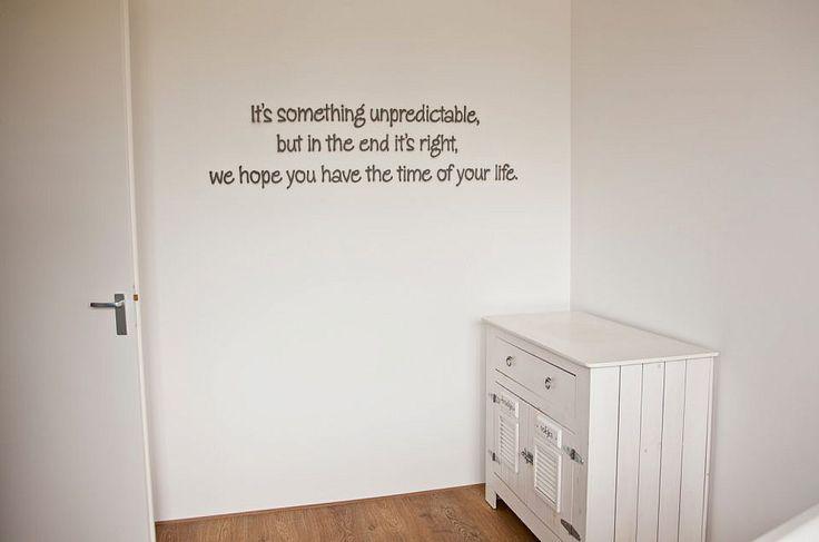 Songtekst op de muur...
