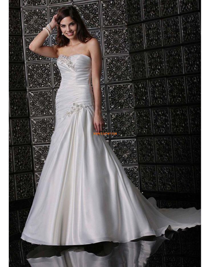 Trumpet/Mermaid Sweetheart Satin Wedding Dresses 2014