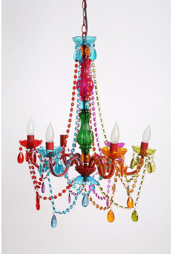 Colorful chandelierLights, Gypsy Chandeliers, Mardi Gra, Dining Room, Urban Outfitters, Kids Room, Colors Chand, Girls Room, Girl Rooms
