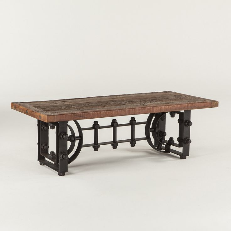 Recycled Wood And Iron Fuse Together In Our Industrial Loft Coffee Table To Create Eclectic Pieces