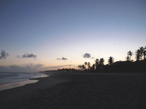 Fim de tarde na Costa do Sauípe, Bahia, Brasil