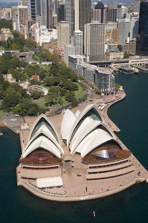 Sydney Opera House, Royal Botanic Gardens, CBD and Circular Quay, Sydney, New South Wales, Australia