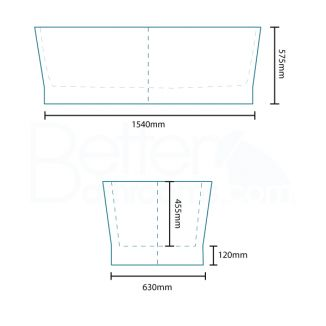 The Brentwood 1690 x 750mm Double Ended Freestanding Bath Tub is both bold and beautiful with its charismatic edge, this bath will make your bathroom ooze with style. The bath is of great size, perfect for all bathrooms and will bring a contemporary twist
