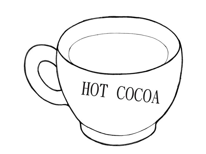 Hot chocolate drink free coloring pages for Hot chocolate coloring page