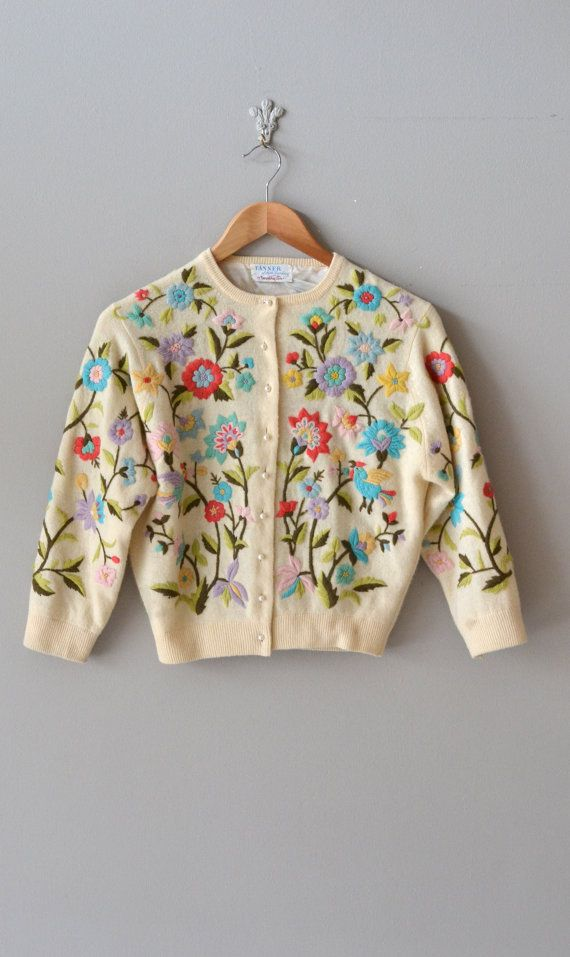 Rebeca Dorothy Cox / años 50 chaqueta de Cachemira / por DearGolden
