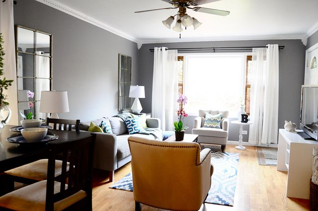 Sister's Living Room Before & After - Go Haus Go