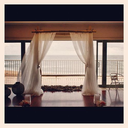 On a rainy day we just put the Wedding Canopy inside Bilgola SLSC - Be Dazzled Events & Decorating