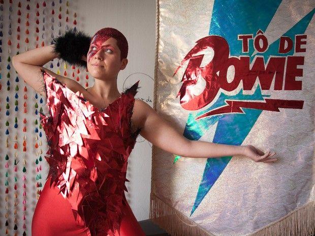 Luiza Furquim é musa do bloco de Carnaval 'Tô de Bowie', que terá canções de David Bowie adaptadas para marchinhas em sua estreia no Carnaval de SP de 2016 - ano da morte do cantor britânico (Foto: Fábio Tito/G1)