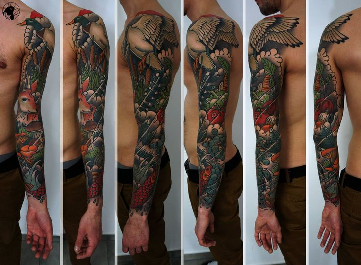 Full Sleeve by Bartek Kos Tattoo  https://www.instagram.com/bk_tats/