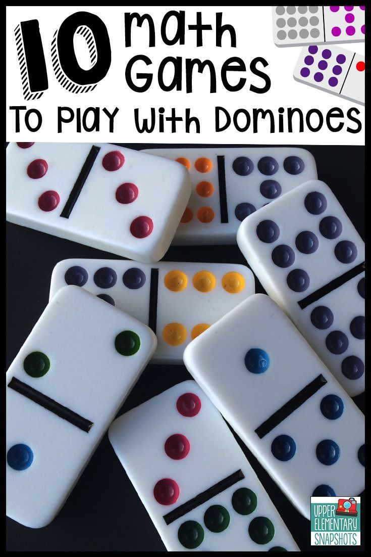 Ten math games that students can play with dominoes to strengthen multiplication, decimal, and fraction skills.  A FREE printable is included! #mathgames #mathcoursesforadults