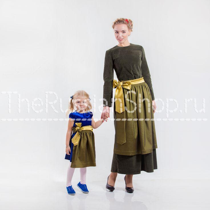 двухсторонний, зелено-желтый нарядный фартук; русский передник;этническая мода; женские аксессуары; детский фартук; одежда для мам и детей; этническая мода;развитие русского национального костюма; ретро; ретро-гламур.