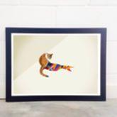 Cat Graphic Illustration Print