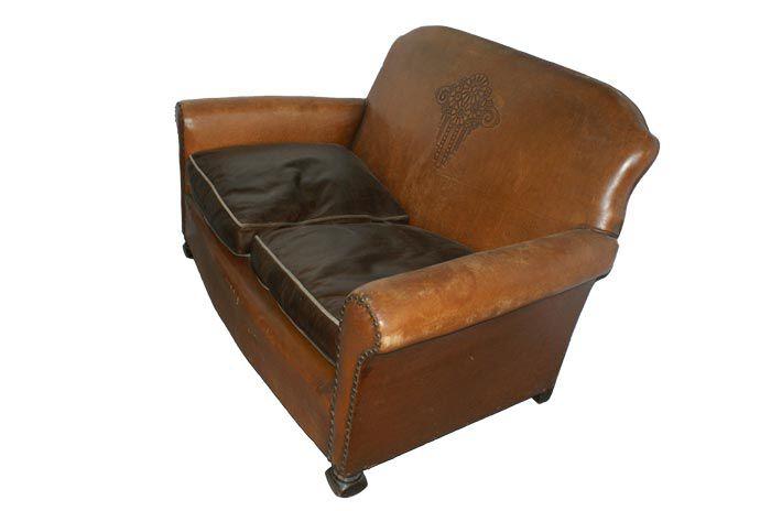 Sofá antiguo Art Deco Chesterfield Francisco Segarra