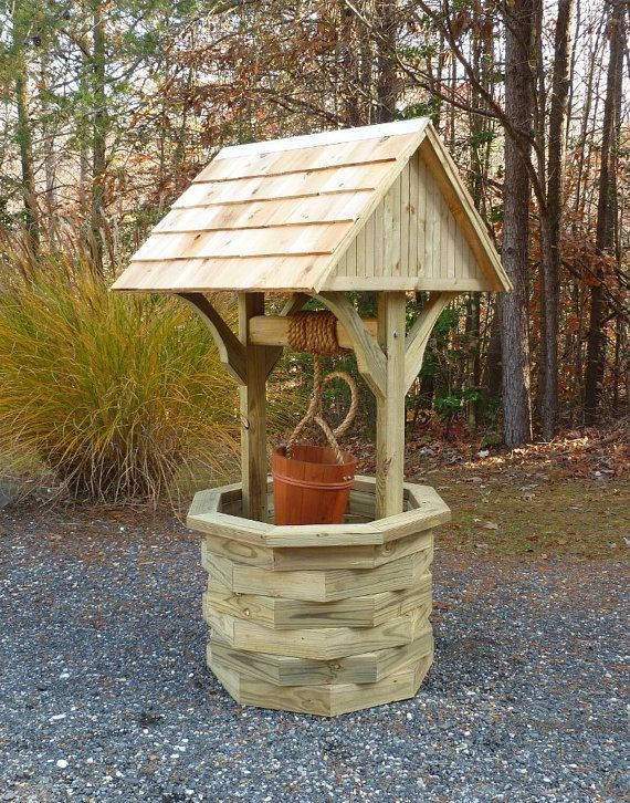 6 ft. Wishing Well Plans Illustrated with Photos by johnmarc33