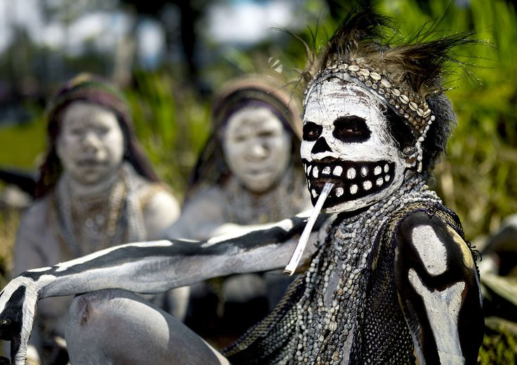 Skeletons Papua New Guinea. © Eric Lafforgue Photography