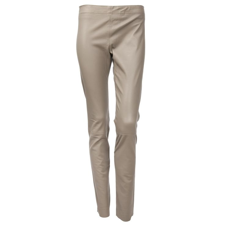 Linda Collection Lederhose in Taupe