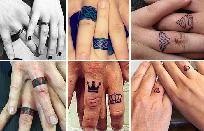 Sevgili Çiftler İçin Yüzük Parmağı Dövmeleri