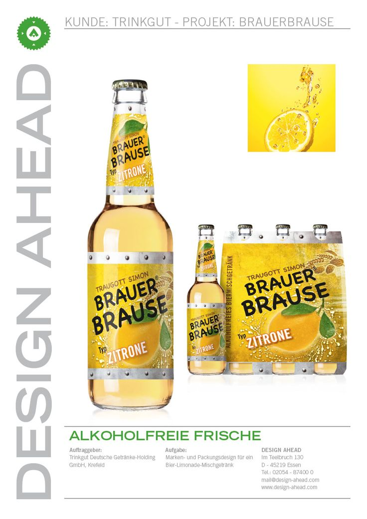 "Packaging Design ""Brauer Brause"""