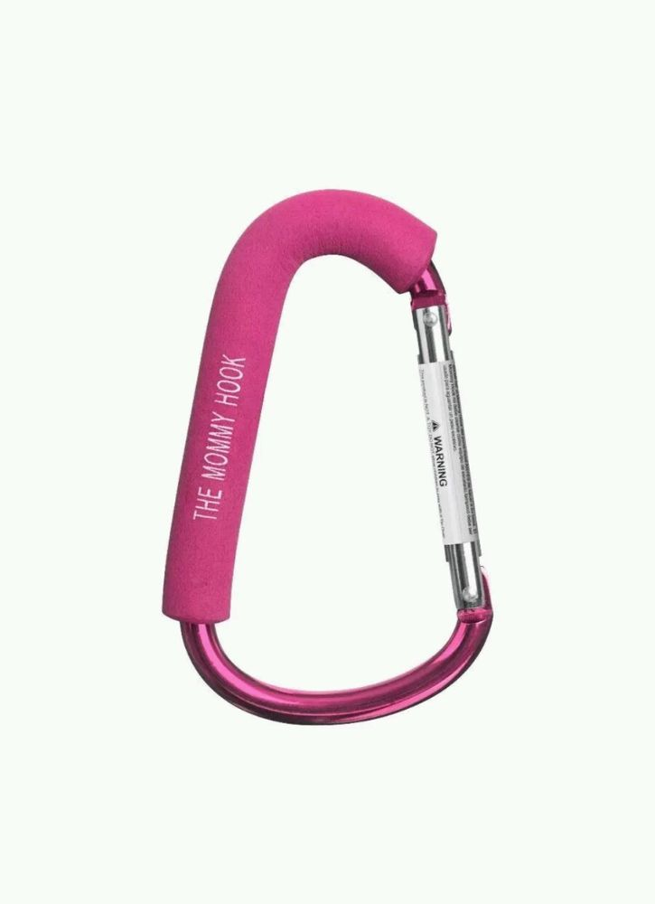 """NEW The Original Mommy Hook Stroller Accessory Pink Purse/Bag Hanger """"Must Have"""" #TheMommyHook"""