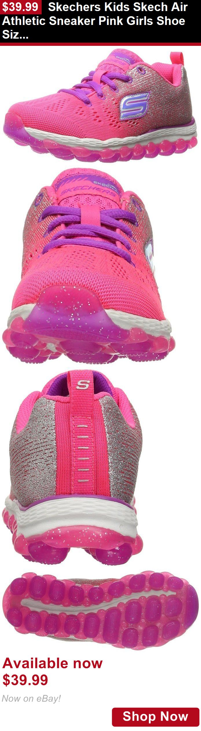 Children girls clothing shoes and accessories: Skechers Kids Skech Air Athletic Sneaker Pink Girls Shoe Size 11-4 BUY IT NOW ONLY: $39.99