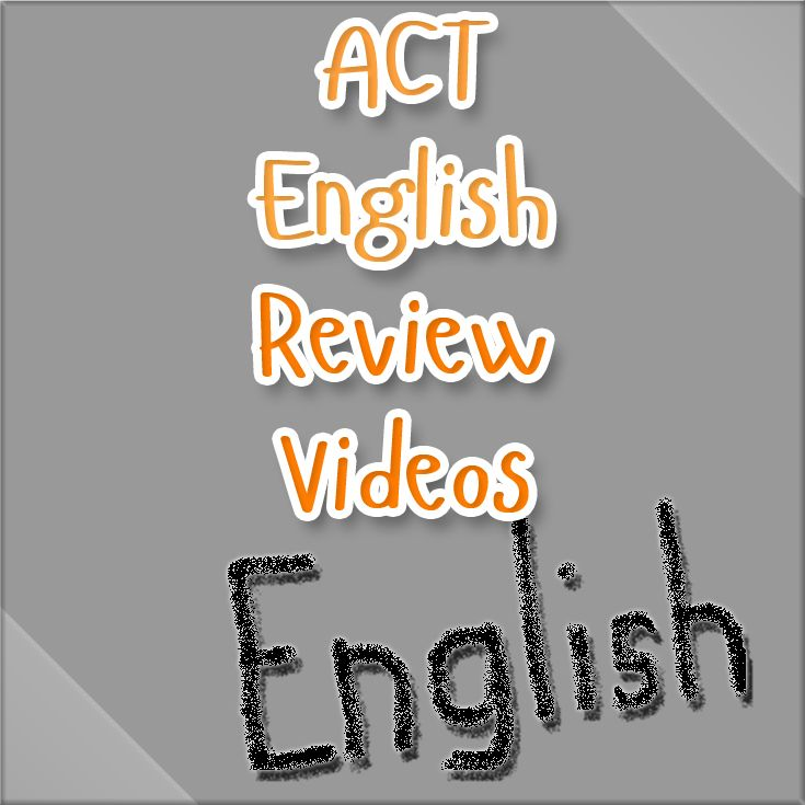 http://www.mometrix.com/academy/act-english/  Great ACT English review videos