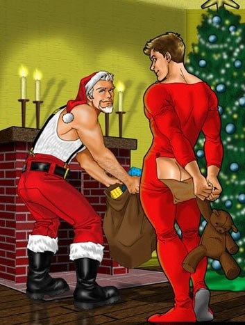 Gay Santas Helper Performs Christmas Miracle