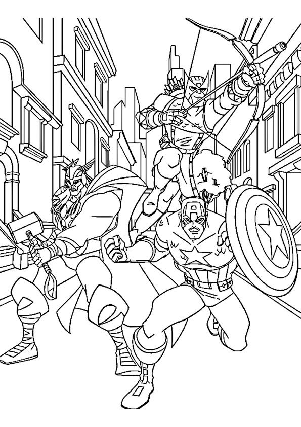 Avengers Da Colorare Marvel Avengers Coloring Pages Avengers
