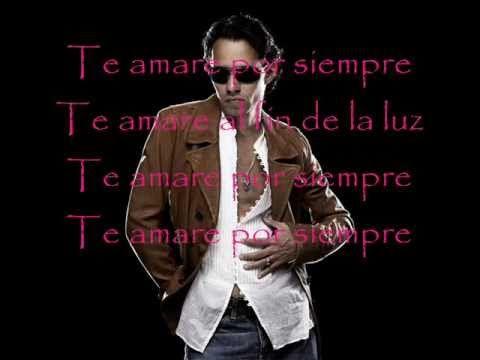 Marc anthony - Te amare por siempre(letra) - YouTube I just adore him
