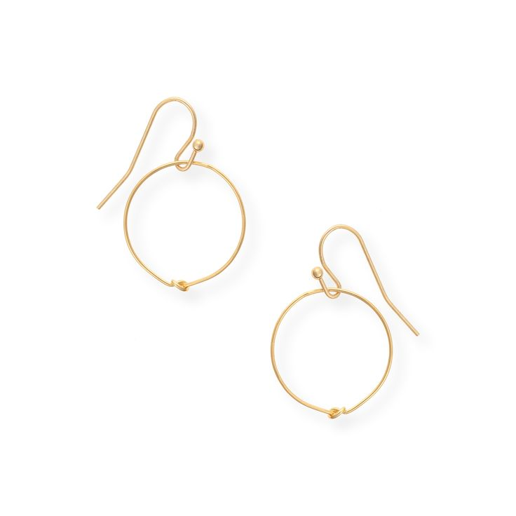 Buy the Delicate Knot Hoop Drop Earrings at Oliver Bonas. Enjoy free worldwide standard delivery for orders over £50.