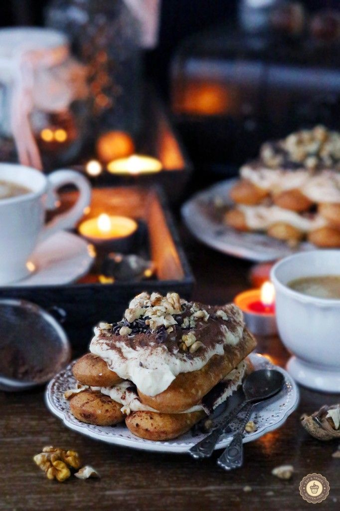 Tiramisu with walnuts