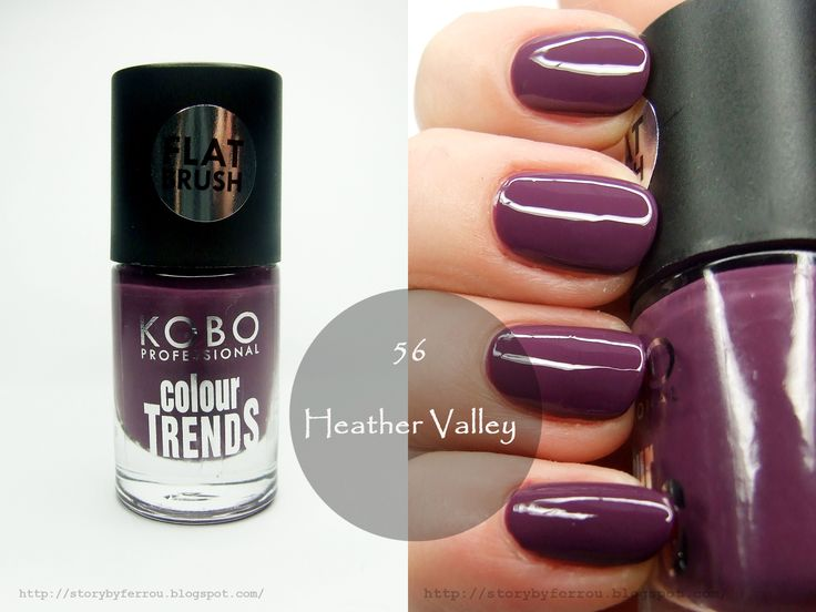 Kobo Professional Nail Polish: 58 Radiant Orchid, 44 Fantasy, 56 Heather Valley