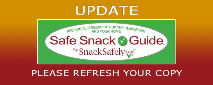 Update to Safe Snack Guide: June 4, 2015: Please note the advisory regarding Pepperidge Farm Goldfish Graham varieties.