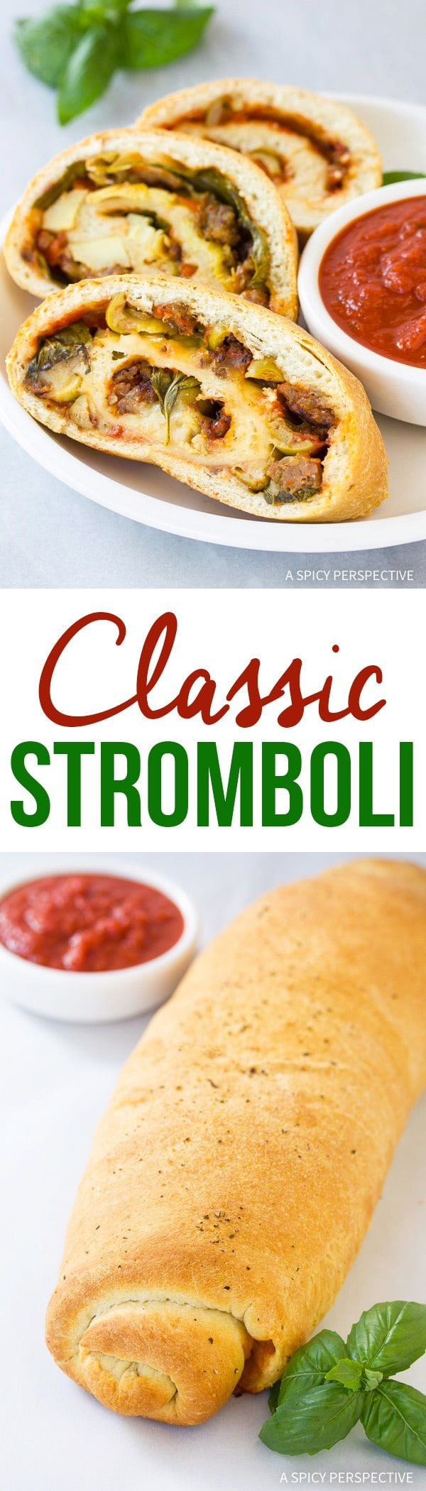 Our Classic Stromboli Recipe is the mother of all comfort dishes. Bold and cheesy with a yeasty crust. If you've ever wanted to learn how to make stromboli, this is the recipe! via @spicyperspectiv