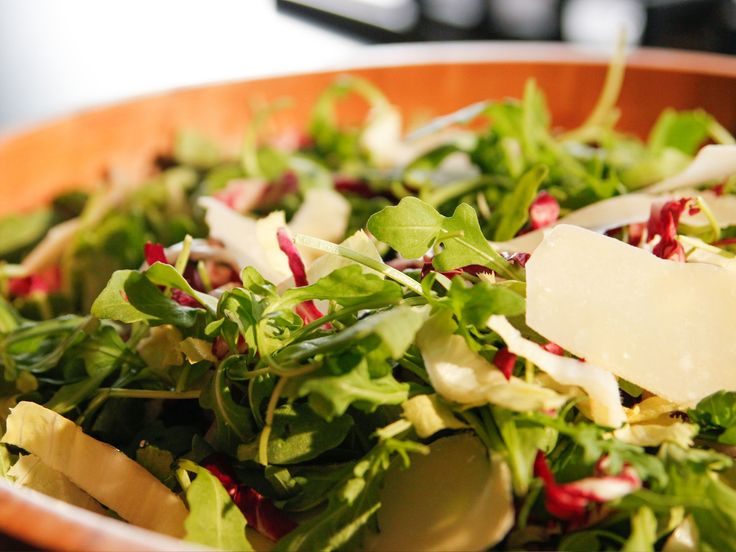 Arugula, Radicchio and Parmesan Salad recipe from Ina Garten via Food Network
