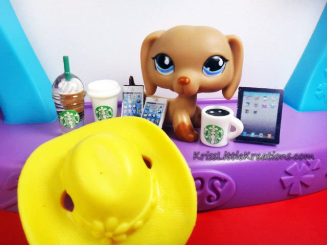 Littlest Pet Shop 8pc Custom Grab Bag Lot *Includes 1 Random LPS Dog* Starbucks Tablet Cell Phone Hat Accessories by KrissLittleKreations on Etsy