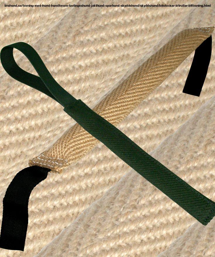 Bitstockar och bitrullar stora - Kamprullar och bitstockar från och vår egen tillverkning. Kamprulle för träning av jakt- och kamplust. Tillverkad av nylcot, försedd med handtag.