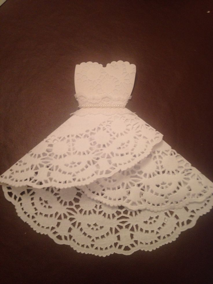 Doilie wedding dress favours for hen party goodie bags