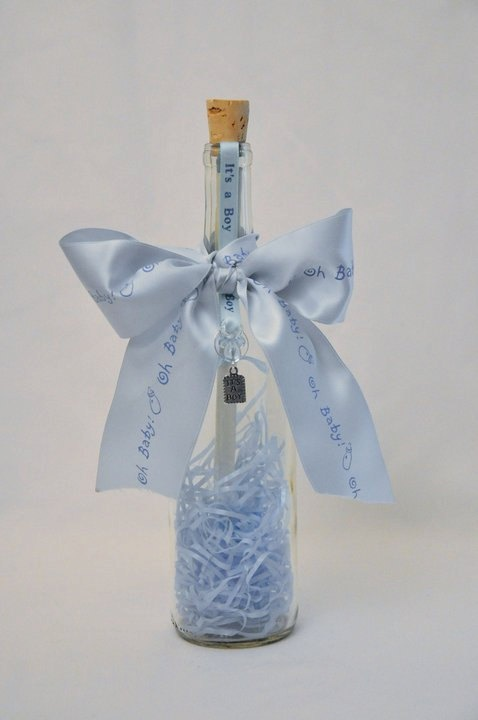 It's A Boy Bottle by CharmingBottles on Etsy - Message in a Bottle