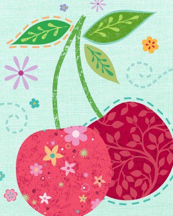 cherry cherry lady ...Diy Decoração, Cherries Lady, Diy Fashion, Art Prints, Cherries Cherries, Girls Nurseries, Dreams Cars, Cherries Art, Cherries Pies