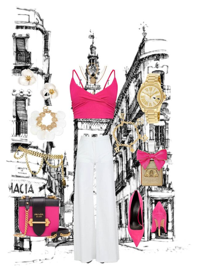 """fuchsia"" by nony4-5n on Polyvore featuring Balmain, Federica Tosi, Chanel, Michael Kors, Juicy Couture, Robert Lee Morris, Luv Aj and Prada"