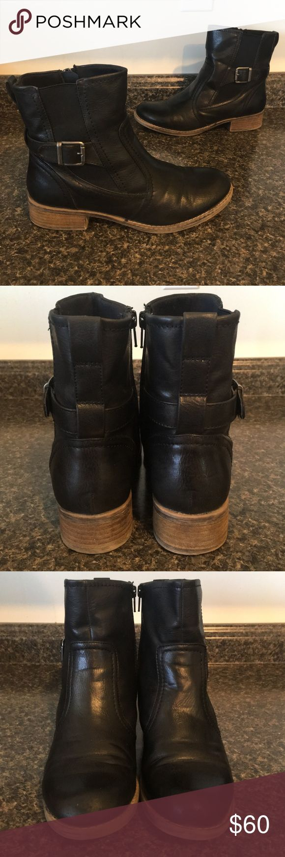 BARETRAPS Leather Distressed Wide Ankle Boots Excellent Preowned Condition with light wear showing on the toes ❤️ Women's Size 9 Wide BareTraps Shoes Ankle Boots & Booties
