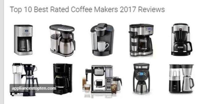 http://appliancestopten.com/top-10-best-rated-coffee-makers-2017-reviews/ | Top 10 Best Rated Coffee Makers 2017 Reviews and Buying Guide - With any of these best rated coffee makers 2017 in your kitchen, the perfect coffee cup is just one press of the button away. Their simple designs excellently disguise the advanced technologies that ensure your coffee is of the highest quality.