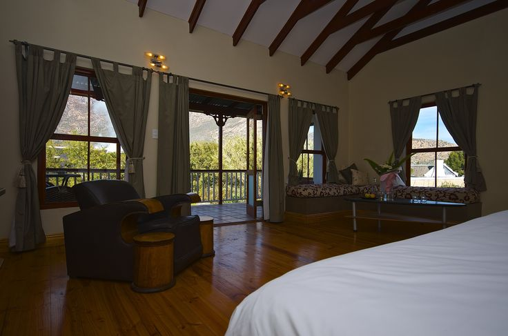 Garden suite view from the bed