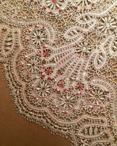 Vologda museum, lace tablecloth
