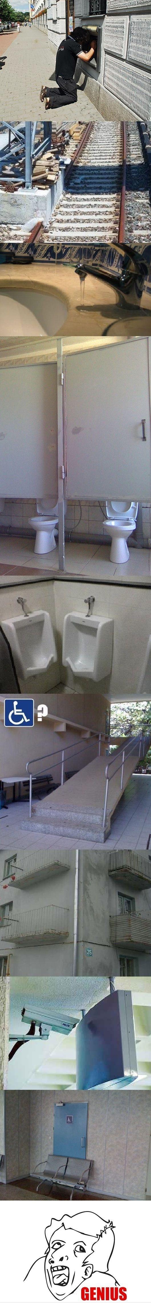 Genius contractors...you had one job!!