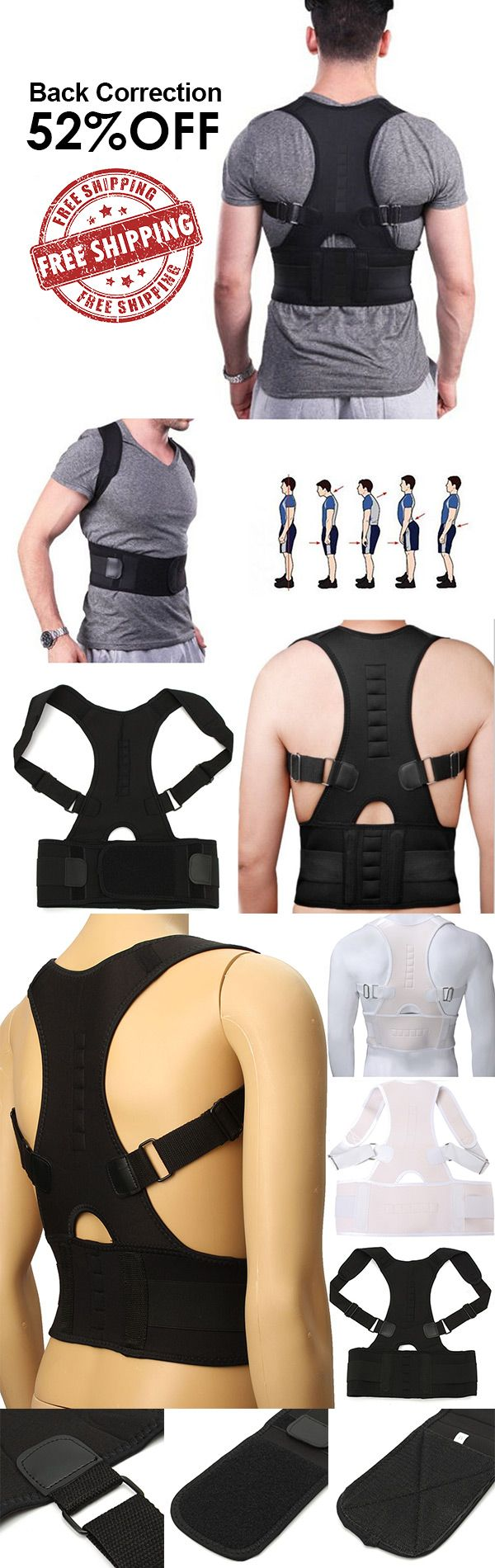 Adjustable Back Posture Corrector Belt Shoulder Brace Support Correction Band Vest
